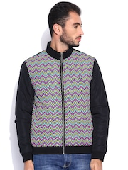 Arrow Sport Black Printed Padded Jacket