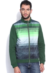 Arrow Sport Green Printed Padded Jacket