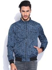 Arrow New York Blue Printed Jacket