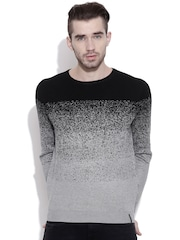 Blackberrys Black & Grey Melange Sweater