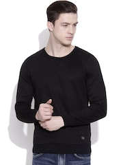 Blackberrys Black Quilted Woollen Sweater
