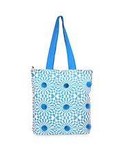 Pick Pocket Blue Printed Tote Bag