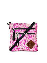 Pick Pocket Pink Printed Sling Bag