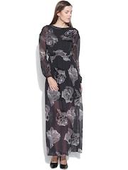 Vero Moda Black Floral Print Maxi Dress