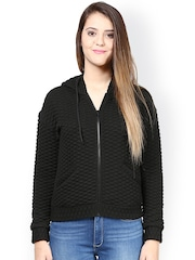 The Vanca Black Quilted Hooded Jacket