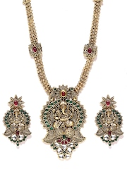 Zaveri Pearls Antique Gold-Toned Jewellery Set