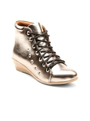 Marc Loire Women Bronze-Toned Heeled Boots