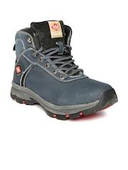 Lee Cooper Men Teal Blue Leather Boots