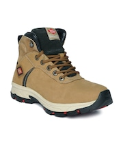 Lee Cooper Men Camel Brown Leather Boots