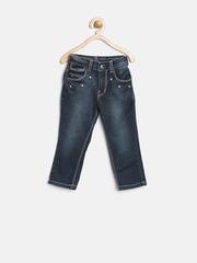 Gini & Jony Girls Navy Washed Jeans
