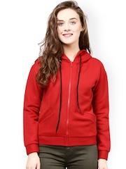 The Vanca Red Hooded Woollen Jacket