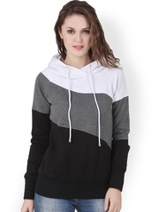 Texco Black & White Hooded Sweatshirt