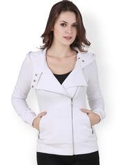 Texco White Hooded Sweatshirt