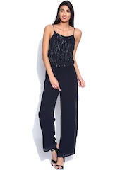 ONLY Navy Sequinned Jumpsuit