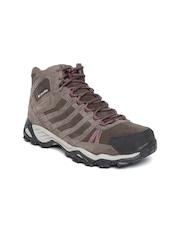 Columbia Women Brown Helvatia Suede Sports Shoes