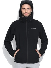 Columbia Black Cascade Ridge Softshell Sweatshirt with Detachable Hood