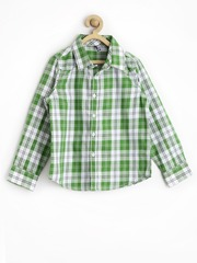 Tickles Boys Green & White Checked Shirt