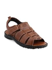 Ventoland Men Tan Brown Leather Sandals
