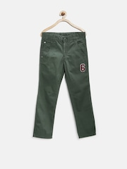 United Colors of Benetton Boys Green Trousers