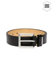 PUMA Men Black Louis Bridle Genuine Leather Belt
