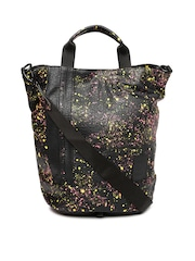 PUMA Black Printed Shopper Bag