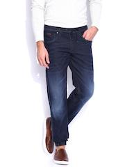 Jack & Jones Dark Blue Comfort Fit Jogger Jeans