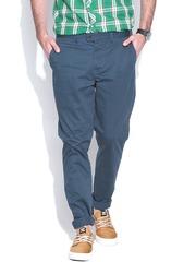Jack & Jones Navy Marco Slim Fit Casual Trousers