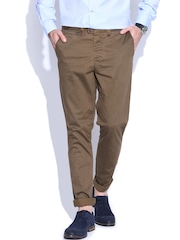 Jack & Jones Brown Marco Slim Fit Casual Trousers