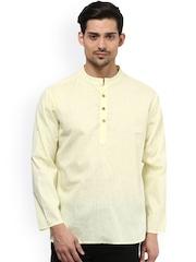 Vivids India Off-White Linen Kurta