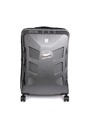 SWISS MILITARY Unisex Black Medium Trolley Suitcase