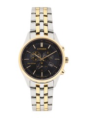 Citizen Men Eco-Drive Black Dial Chronograph Watch AT2144-54E