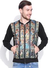 Kook N Keech Black Printed Sweatshirt