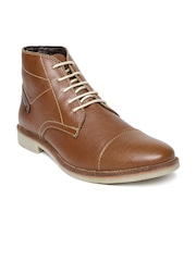 Numero Uno Men Brown Genuine Leather Boots