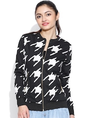 United Colors of Benetton Black Houndstooth Print Jacket