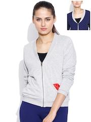 United Colors of Benetton Grey Melange & Navy Reversible Jacket