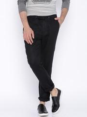 Jack & Jones Premium Black Linen Casual Trousers