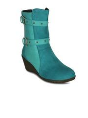 Get Glamr Women Blue Heeled Boots