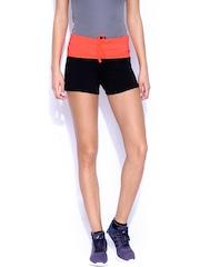 ATIVO Black & Neon Orange Shorts
