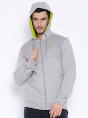 Reebok Grey Melange Hooded Sweatshirt