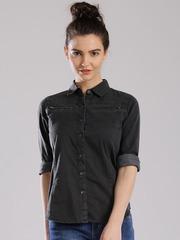 HRX by Hrithik Roshan Charcoal Grey Casual Shirt