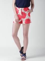 Mast & Harbour Pink & White Floral Print Shorts