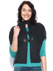 United Colors of Benetton Charcoal Grey Woollen Jacket