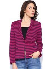 United Colors of Benetton Pink & Purple Striped Blazer