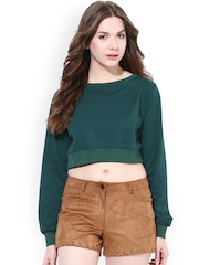 Miss Chase Green Loose Fit Crop Top