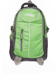 Suntop Unisex Green & Grey Checked Laptop Backpack