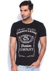 Franco Leone Black Printed T-shirt