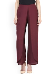 RARE Maroon Palazzo Relaxed Fit Trousers