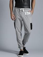 Kook N Keech Disney Grey Melange Printed Track Pants