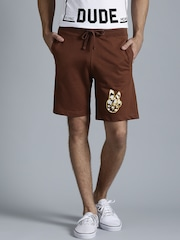 Kook N Keech Brown Shorts