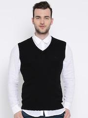 United Colors of Benetton Black Lambswool Sleeveless Sweater